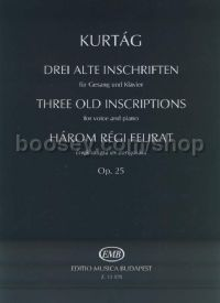 Three Old Inscriptions Op. 25 voice & piano