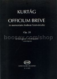 Officium Breve in memoriam Andreae Szervánszky (Playing Score)