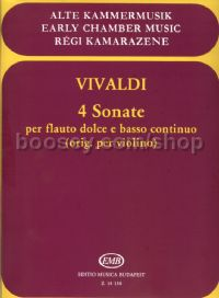 4 Sonatas for Recorder