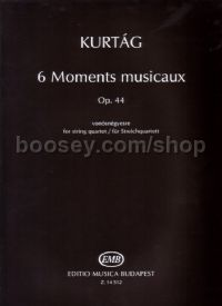 6 Moments Musicaux, op. 44 for string quartet (playing score)