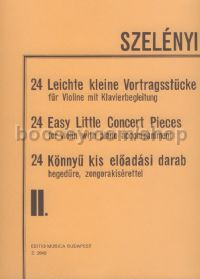 24 Easy Little Concert Pieces II for violin & piano