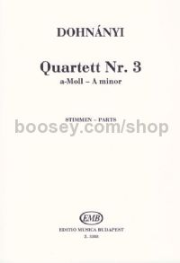 String Quartet No. 3 in A minor - string quartet (set of parts)