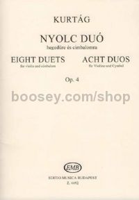 Eight Duets, op. 4 for violin & cimbalom