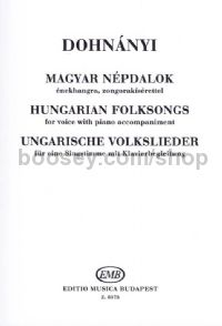 Hungarian Folksongs - voice & piano