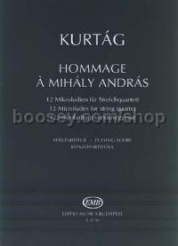 Hommage a András Mihály, op. 13 for string quartet (playing score)