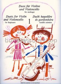Duets for Violin and Violoncello for Beginners 1 for string duo