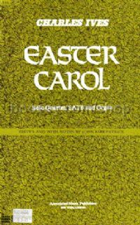 Easter Carol Soli, SATB & Organ Vocal Score