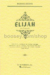 Elijah Vocal Score Schirmer Edition