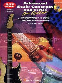 Advanced Scale Concepts & Licks Guitar Tablature (Book & CD)
