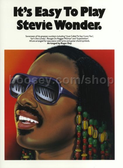 Wonder, Stevie - It's Easy to Play Stevie Wonder (Easy Piano with