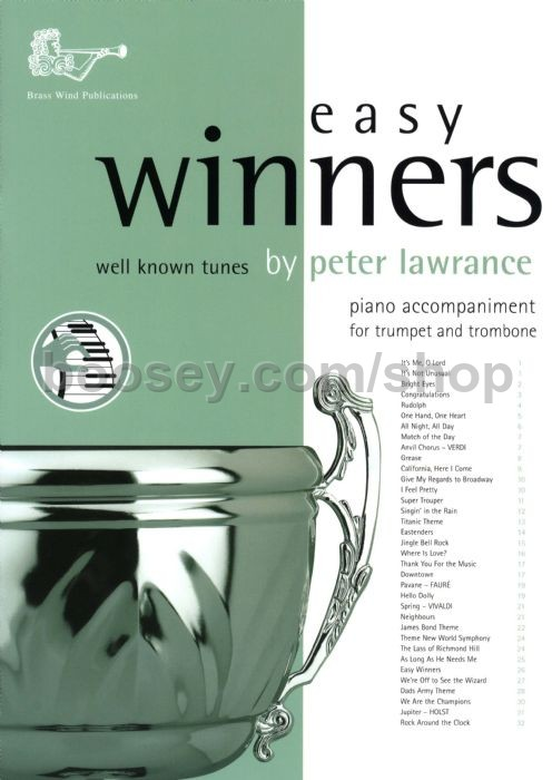 Various - Easy Winners for Trumpet, Horn, Euphonium & Eb Bass (Piano