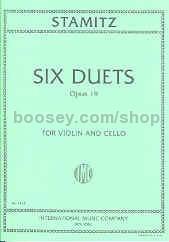 Carl Stamitz - Six Duets Op  19, violin/cello