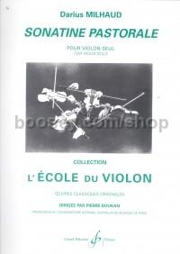 Darius Milhaud - Sonatine Pastorale For Violin Solo