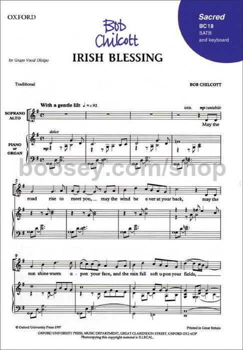 Bob Chilcott - Irish Blessing (SATB with piano or organ