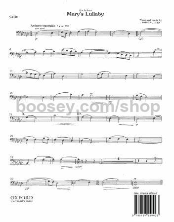 Mary's Lullaby - cello. John Rutter