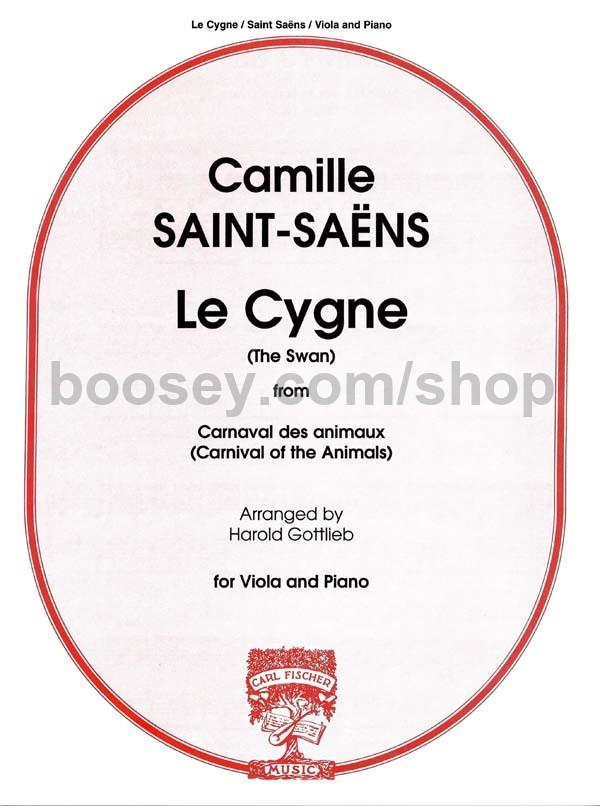 Camille Saint-Saens - The Swan (Le Cygne) - viola & piano