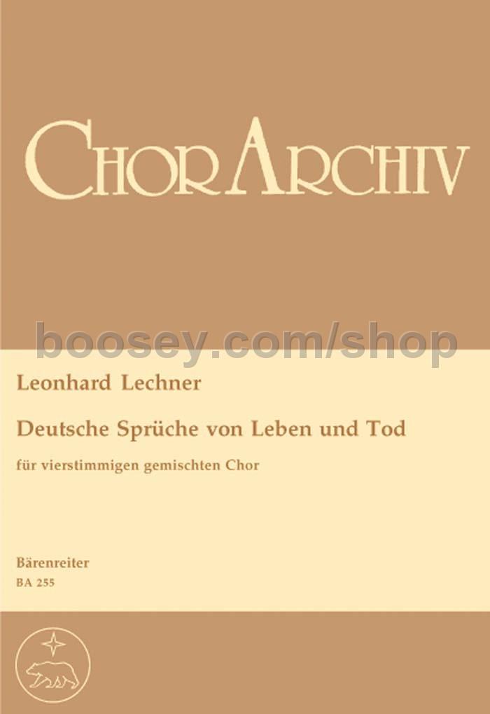 Leonhard Lechner Deutsche Sprüche Von Leben Und Tod