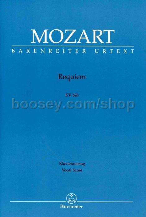 Wolfgang Amadeus Mozart - Requiem K626 (vocal score)
