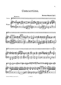 Muscat, Herman - Concerto in G op  5 - violin & piano