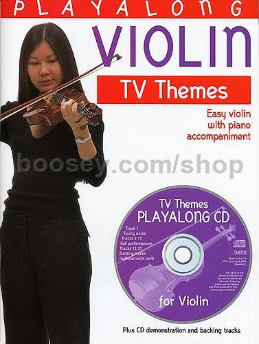 CD Playalong Violine TV Themes with Piano accompaniment