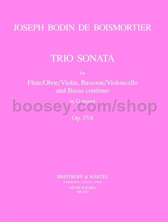 Trio Sonata in G Minor, Op. 37, No. 4 (Bassoon/Viola da Gamba/Cello Part) - Bassoon/Viola/Cello