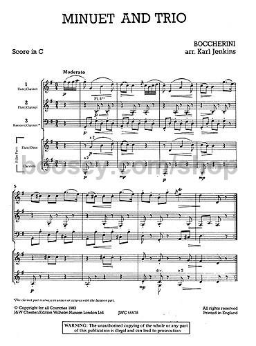 Minuet and Trio (Score & Parts) - Luigi Boccherini