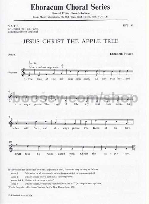 Elizabeth Poston - Jesus Christ The Apple Tree (SATB) (Eboracum