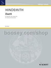 Hindemith, Paul - Duet - viola & cello
