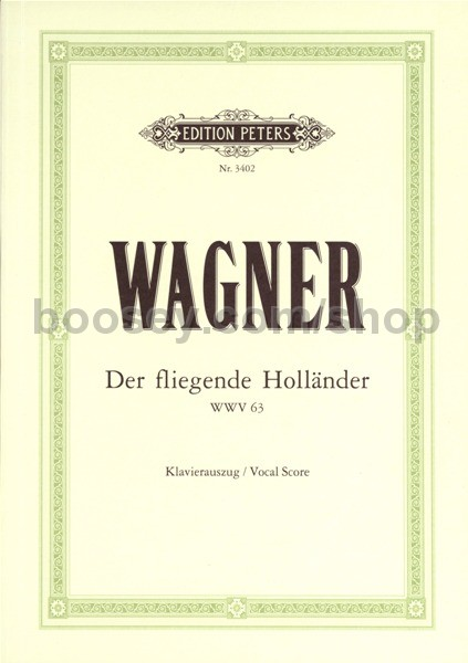 Vocal Score The Flying Dutchman