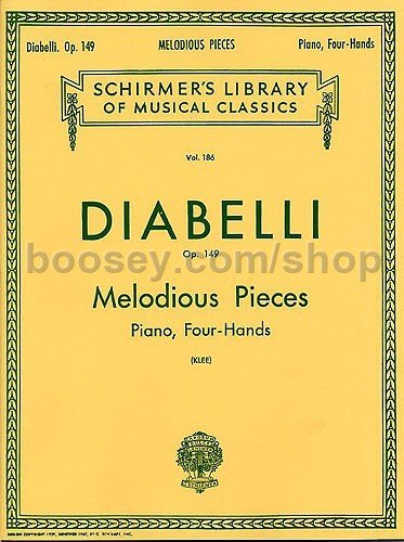 Diabelli, Anton - Melodious Pieces On Five Notes Op 149 - Piano