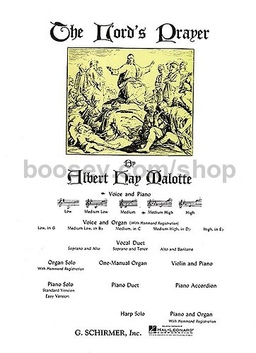Malotte, Albert Hay - Lord's Prayer (key: Db) (med high)