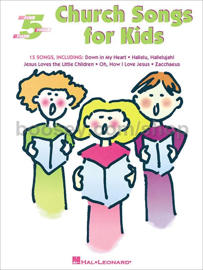 Church Songs for Kids for Five-Finger Piano - Various