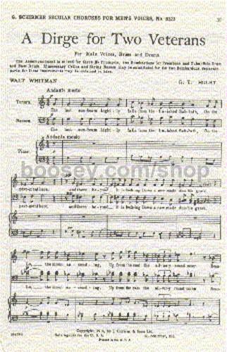 Gustav Holst - Dirge for Two Veterans (Vocal Score) (TTBB)