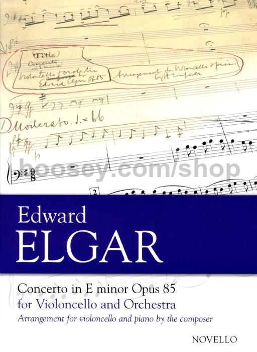 Edward Elgar - Cello Concerto in E Minor, Op 85 (Cello & Piano)