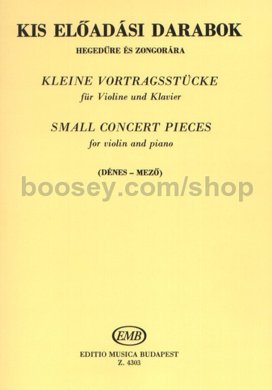Various - Small Concert Pieces for violin & piano