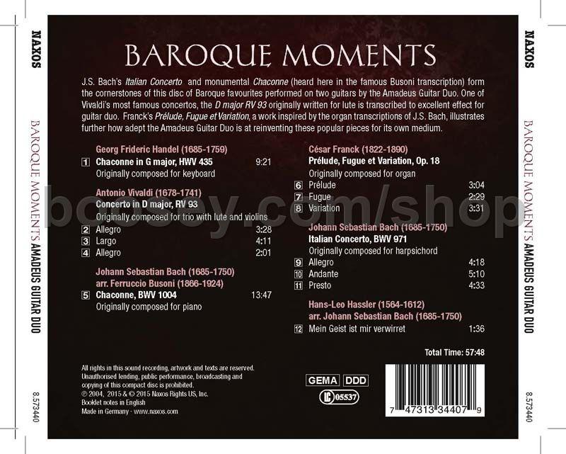 Various - Baroque Moments (Naxos Audio CD)