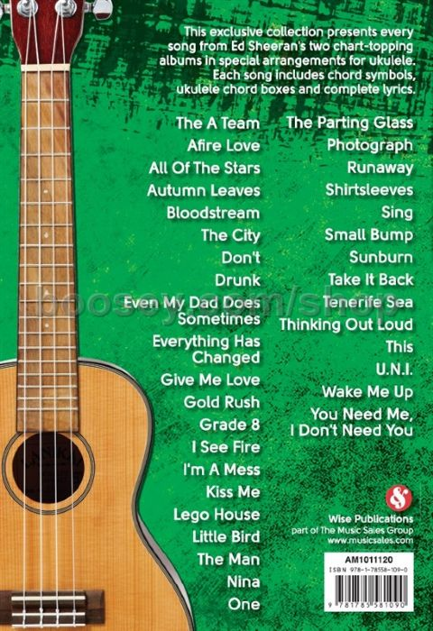 Sheeran, Ed - Ukulele Chord Songbook