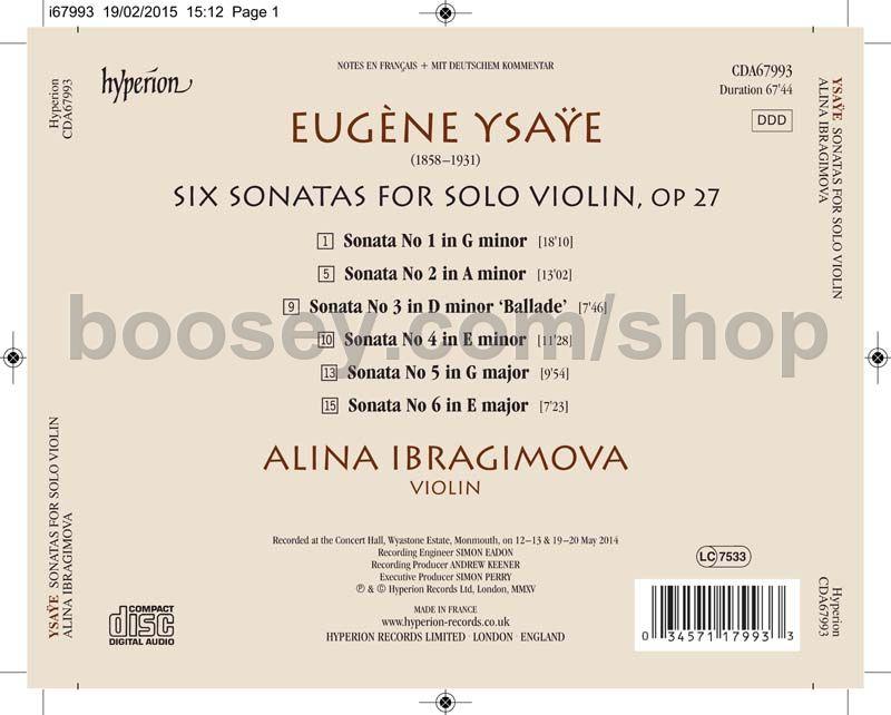eugène ysaÿe sonata no 3 ballade