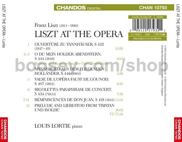 Liszt, Franz - Liszt At The Opera (Chandos Audio CD)