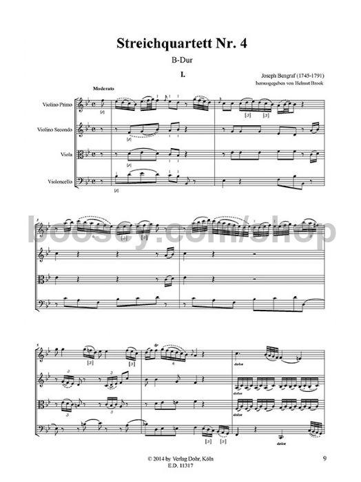 Bengraf, Joseph - String Quartet No  4 in Bb major - string