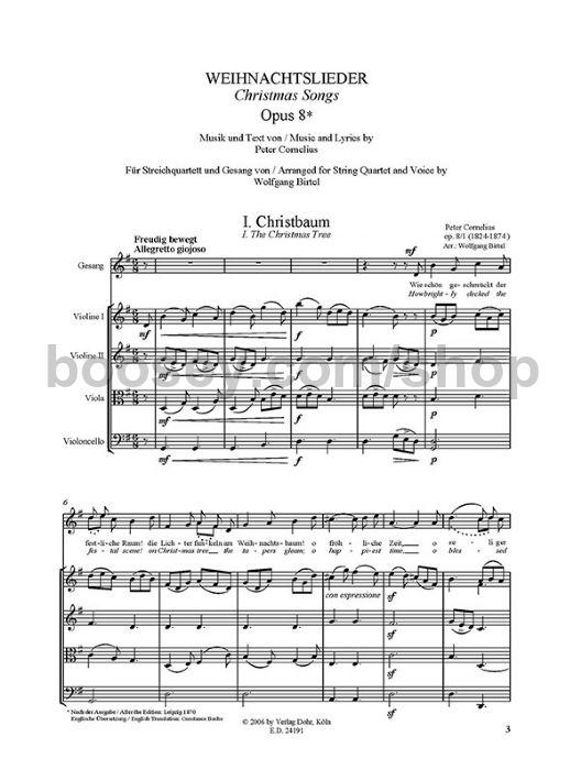 Cornelius, Peter - Christmas Carols op  8 - Voice & String