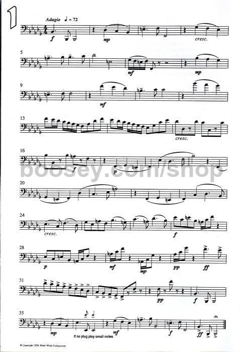 Bourgeois Splinters Of Bone Trombone Bass Clef Instruction Books, Cds & Video