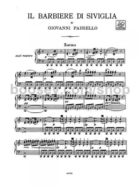 Paisiello Giovanni Il Barbiere Di Siviglia Mixed Voices Piano