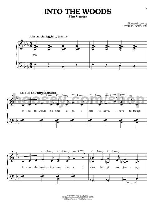 Sondheim, Stephen - Into the Woods (Easy Piano Selections)