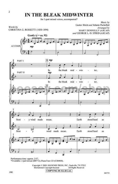 Holst, Gustav - In the Bleak Midwinter for choir
