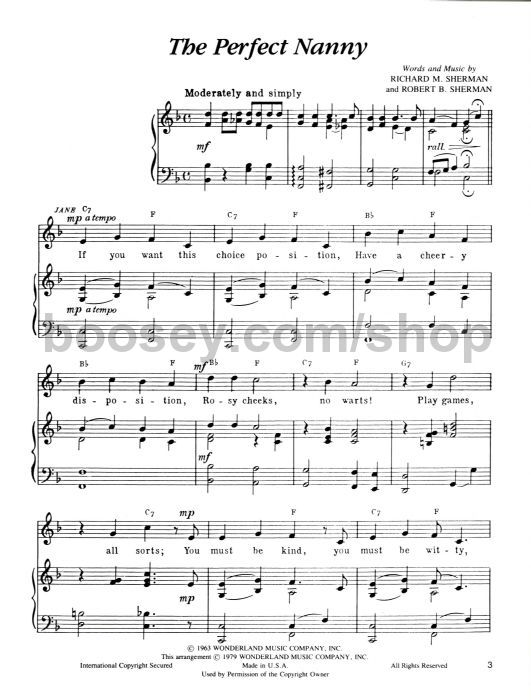 Sherman Richard M Robert B Mary Poppins Vocal Selection Pvg Illustrations Story: Fly Kite Sheet Music At Alzheimers-prions.com